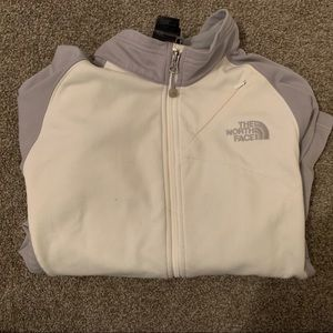 Women's white north face - lightly worn